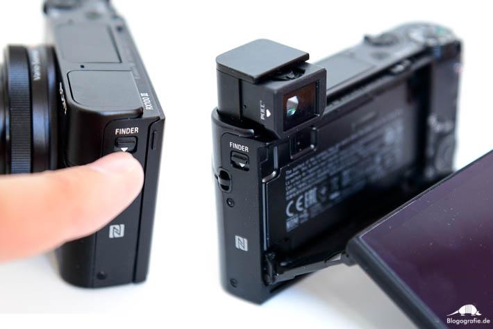 Sony RX100 M3 Testbericht digitaler Sucher