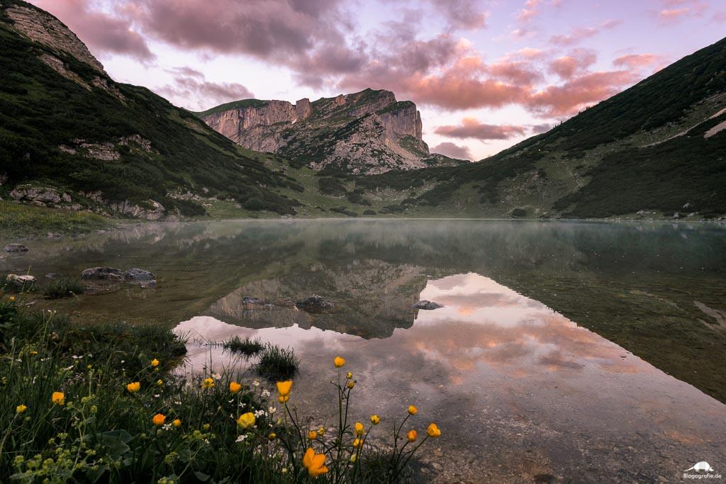 Zireiner See Sonnenaufgang