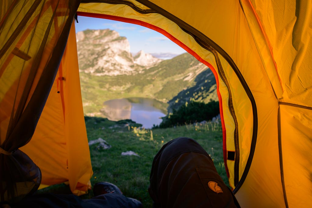 Zireiner See aus dem Zelt