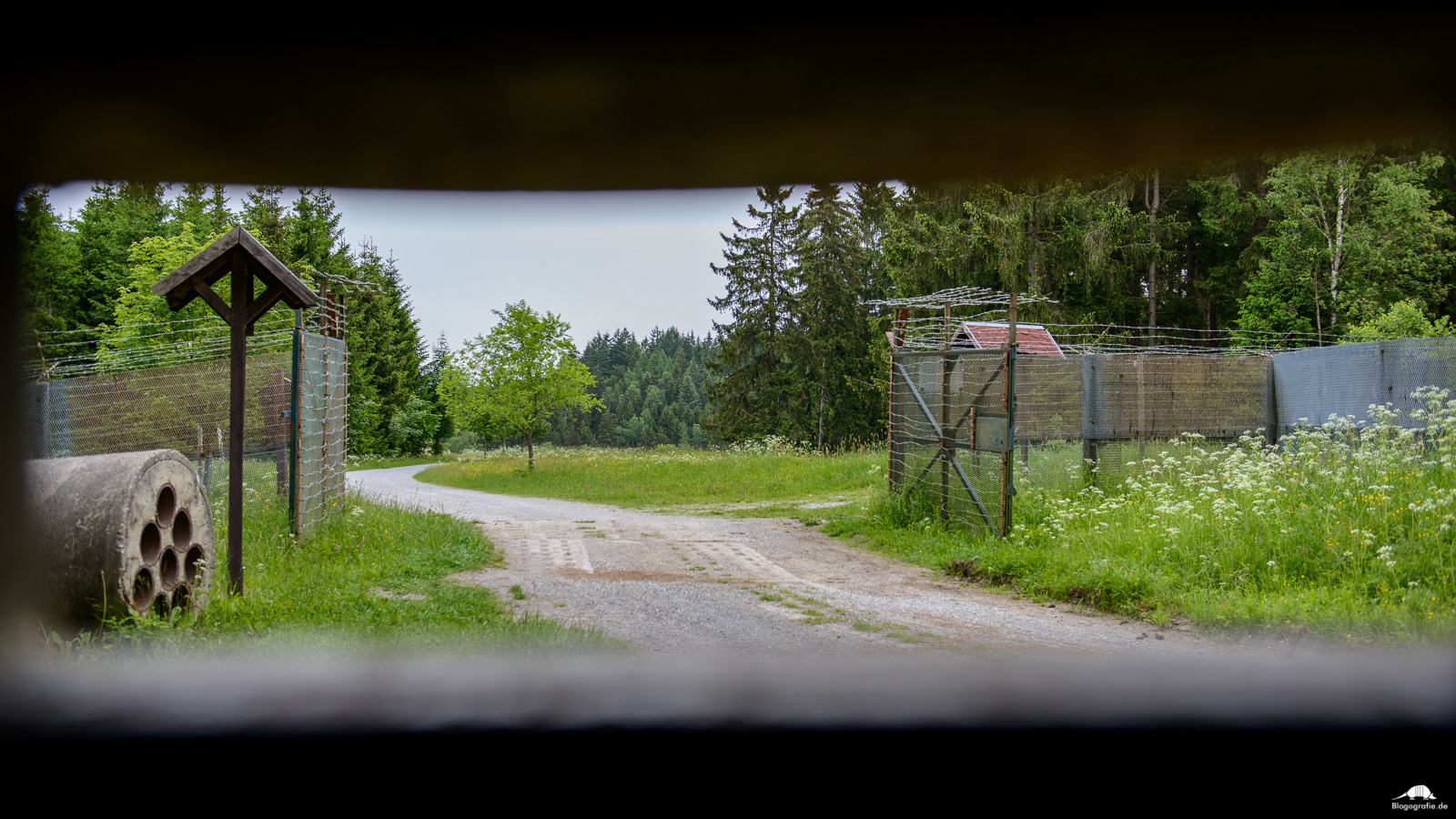 Grenzlandschaft Sorge - Blick aus dem Erdbunker