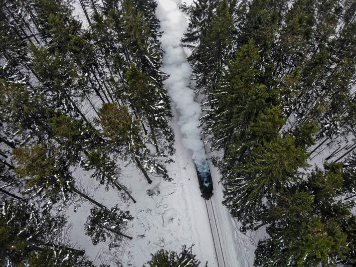 Harz - Brockenbahn - Luftbild - Drohne