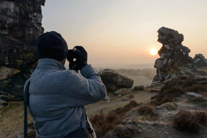 harz - teufelsmauer - alex beim fotografieren