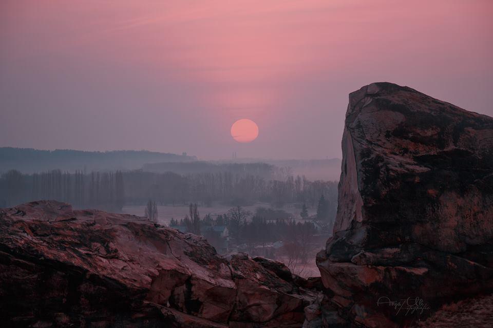harz - teufelsmauer zum Sonnenaufgang