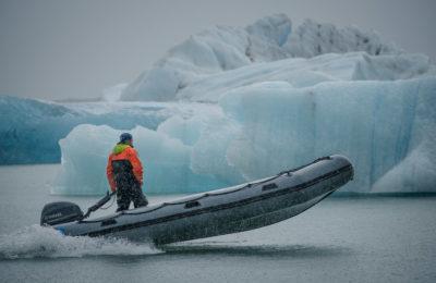 island - Boot auf dem Eissee