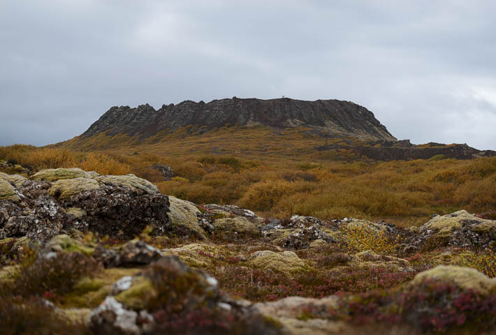 island - eldborg - vulkan krater