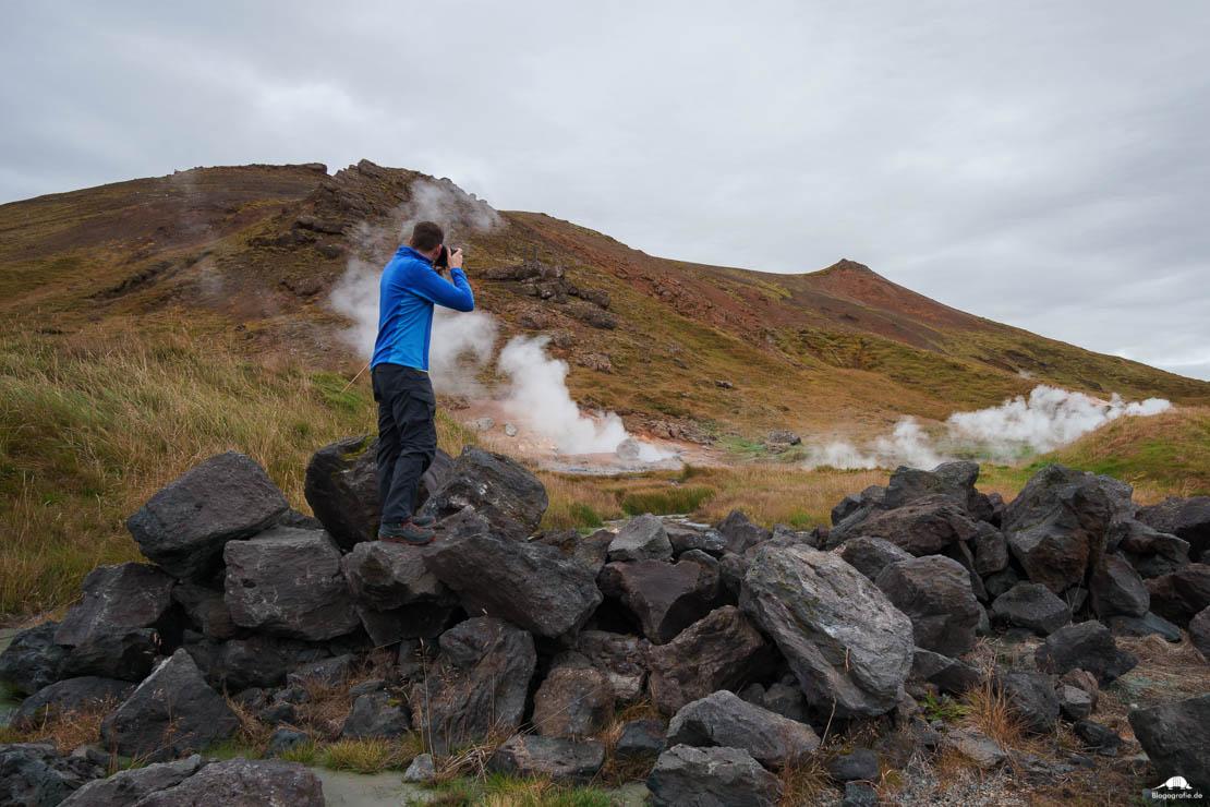 island fotografieren heiße quellen