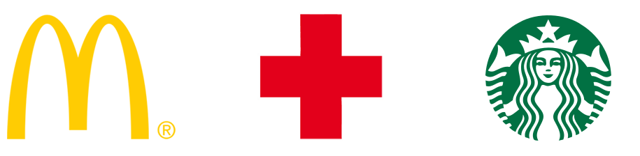logo-design mc donalds rotes-kreuz starbucks