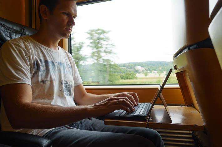 Pendler - Bloggen im Zug