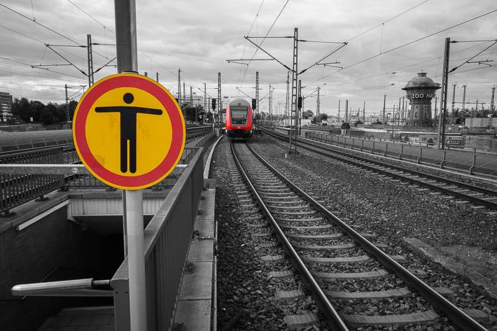 Letzte Fahrt im Zug