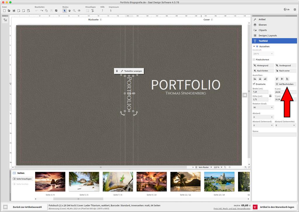 Saal Digital Fotobuchtest Cover Design