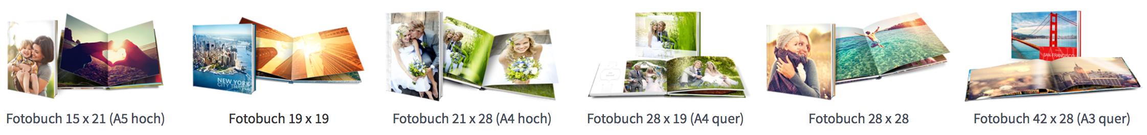 Saal Digital Fotobuch Formate