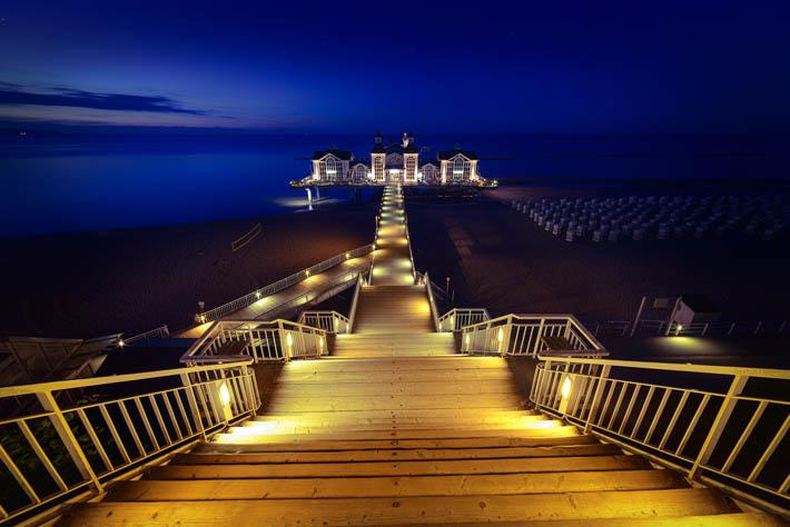 walimex pro 14mm - Nachtaufnahme Seebrücke Sellin