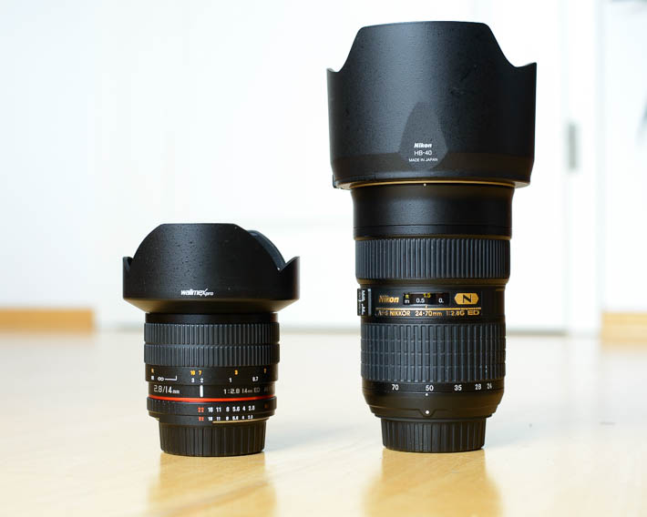 walimex pro 14mm vs. Nikkor 24-70mm