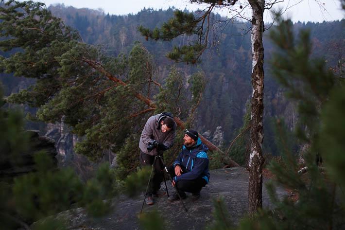fotografieren beim workshop im elbsandsteingebirge