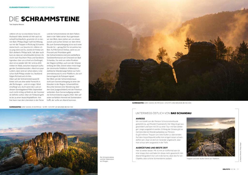 Zielfoto-Magazin - 01|2018 - Elbsandsteingebirge