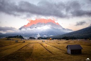 Lermoos-Alpenglühen