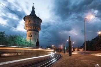 Wasserturm Blitz