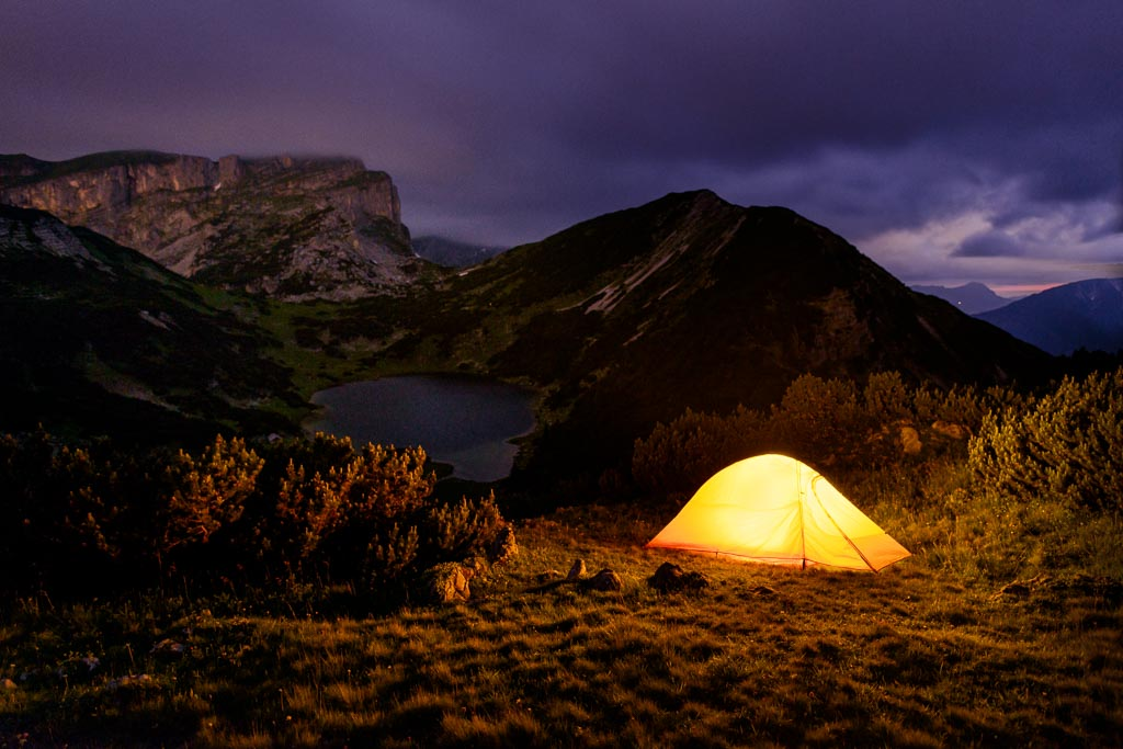 Zireiner See mit Zelt