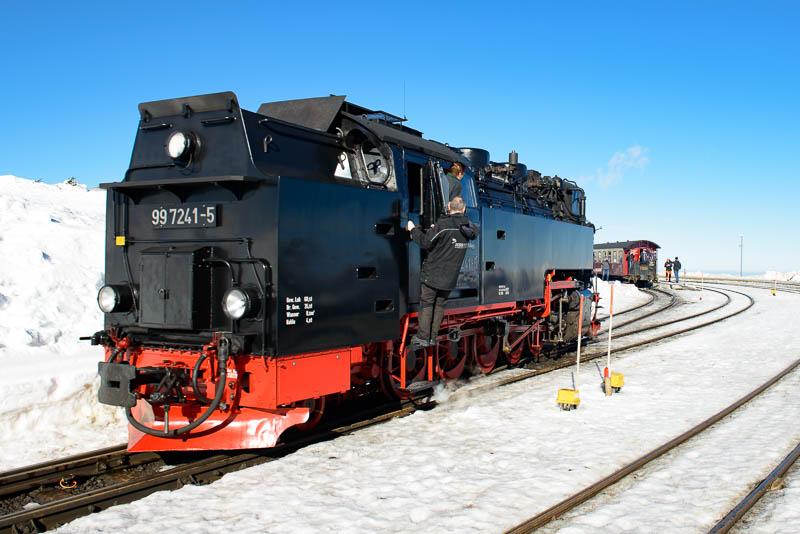 Brockenbahn - Lok von hinten