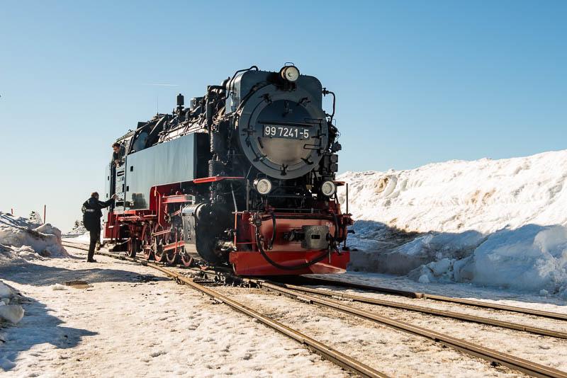 Brockenbahn - Lok von vorne