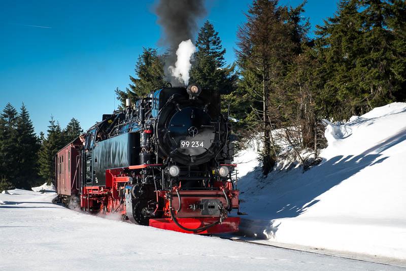 Brockenbahn im Schnee