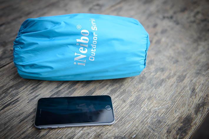 iNeibo Luftmatraze größenvergleich iPhone