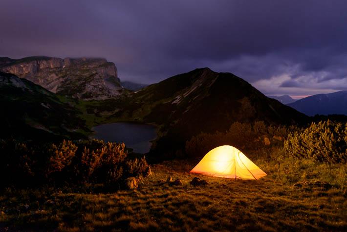 camping zelt am zireiner see