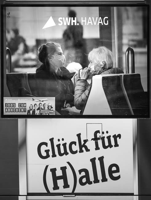 Maskenpflicht in der Straßenbahn in Halle (Saale)