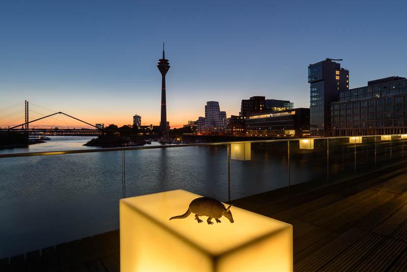 Medienhafen in Düsseldorf zum Sonnenaufgang