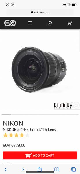 e-infinity nikkor 14-30mm
