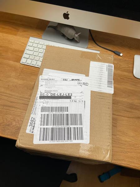 Paket von E-Infinity erfolgreich angekommen