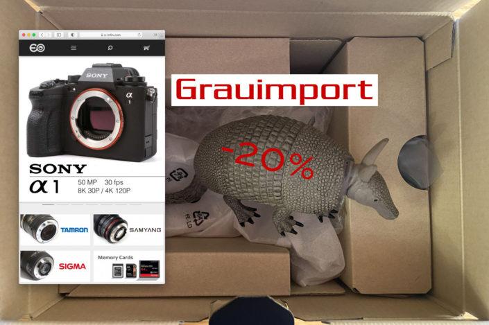 E-Infinity Camera Store: Geld sparen durch Grauimporte