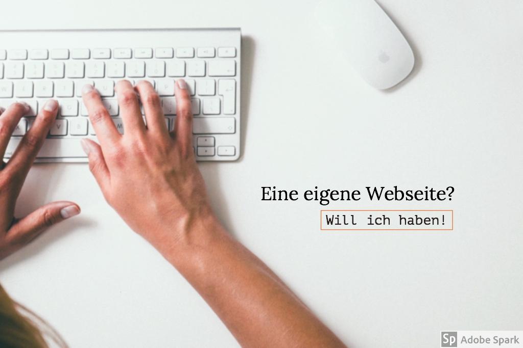 eigene webseite erstellen