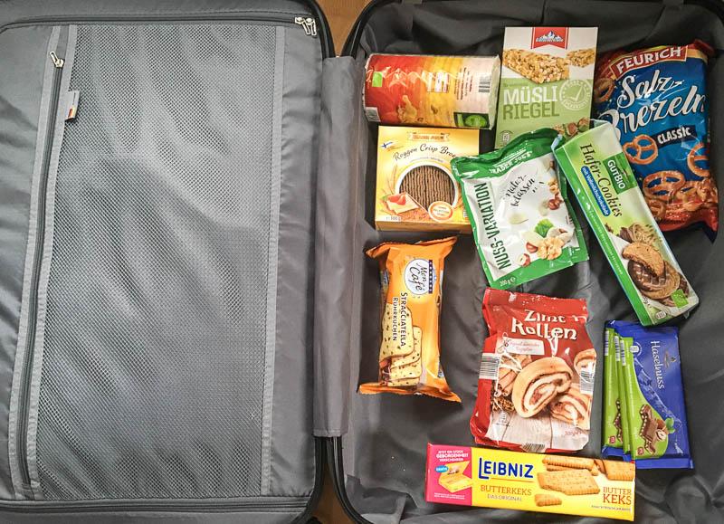 Ein Koffer voller Süßigkeiten