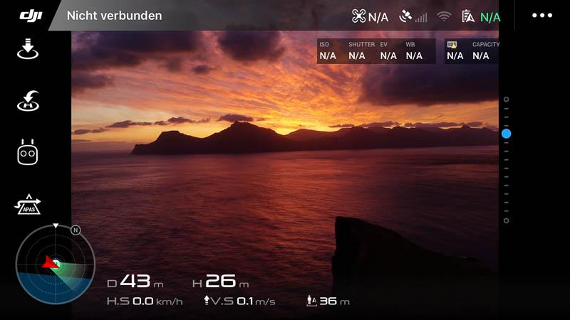 Sonnenaufgang in Gjogv mit Drohne