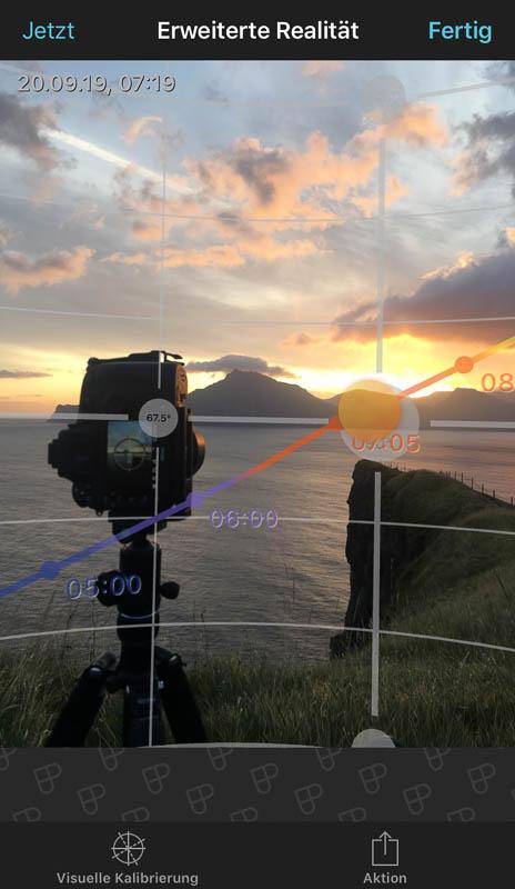 Sonnenaufgang in Gjogv mit Kamera