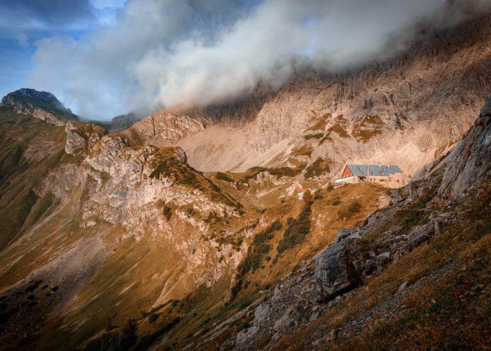 Das Prinz-Luitpold-Haus in den Allgäuer Alpen