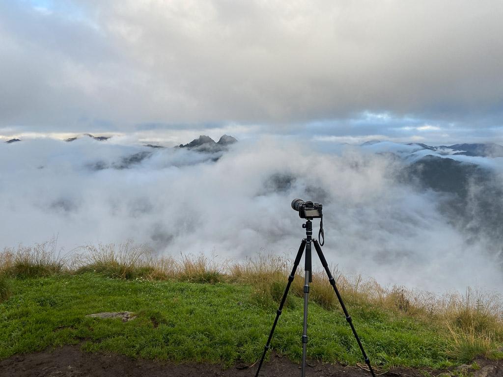 Stativ an der Gasselhöhe mit Wolken