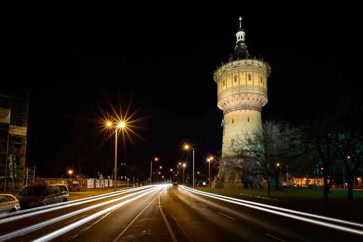 Halle (Saale) - Wasserturm - Sonnenstern Nikkor 20 mm f/1.8
