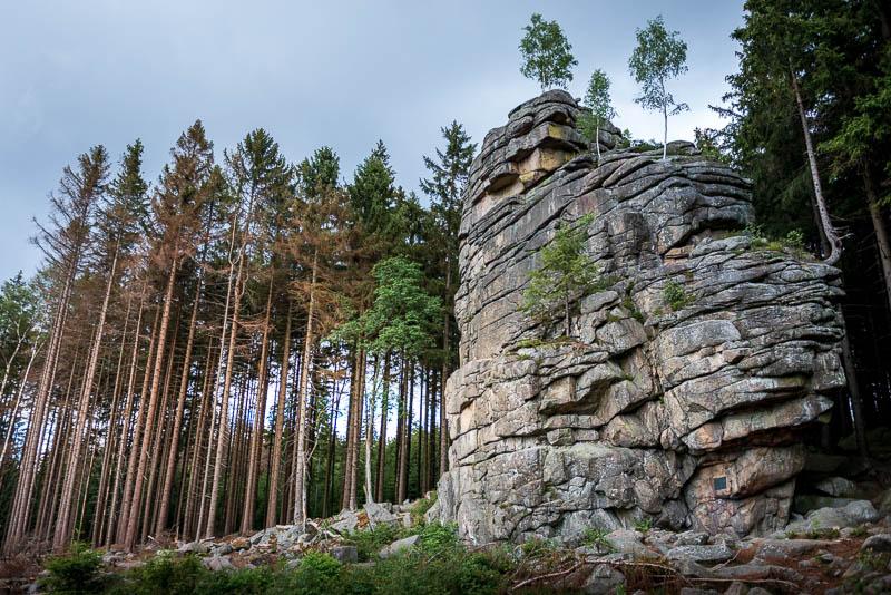 Feuersteinklippe im Harz bei Schierke
