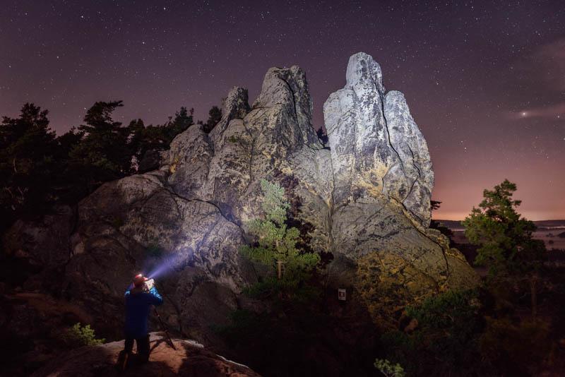 Nachts mit Stephan Wiesner am Hamburger Wappen im Harz