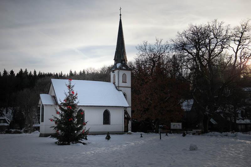 Holzkirche Elend im Schnee