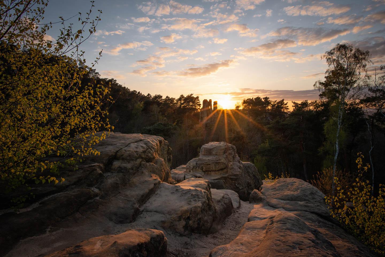 Sonnenuntergang über dem Fünffingerfelsen