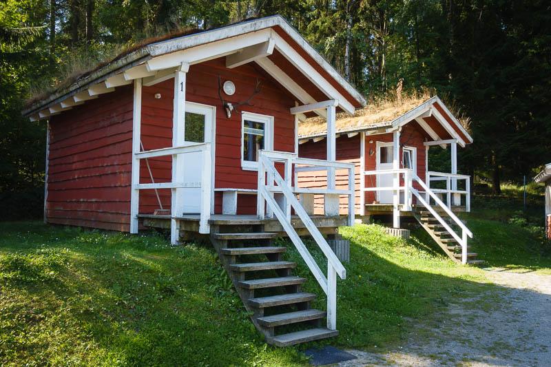 Skandinavische Holzhütten am Campinplatz Schierker Stern im Harz