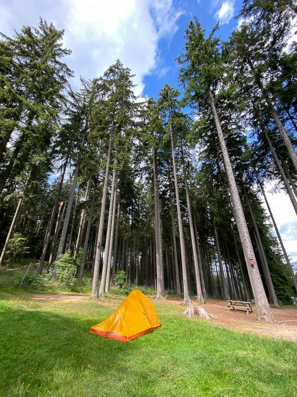 Zelt auf dem Campingplatz am Schierker Stern in Harz