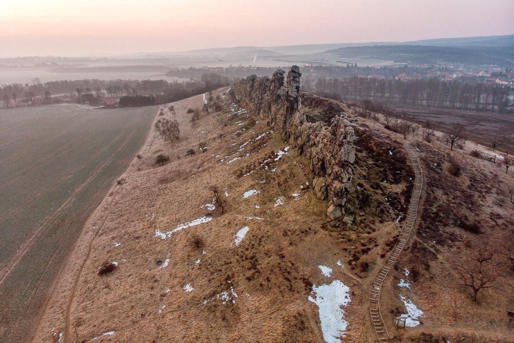 harz - teufelsmauer bei weddersleben Luftbild