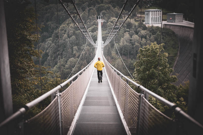 Auf der Hängebrücke Titan RT mit Stephan Wiesner