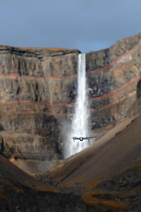 island - hengifoss - drohne -dji mavic