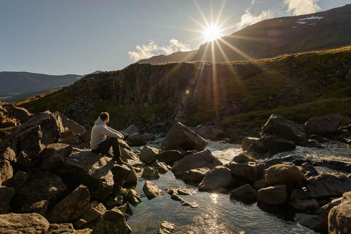 island - seyðisfjörður - sonnenaufgang