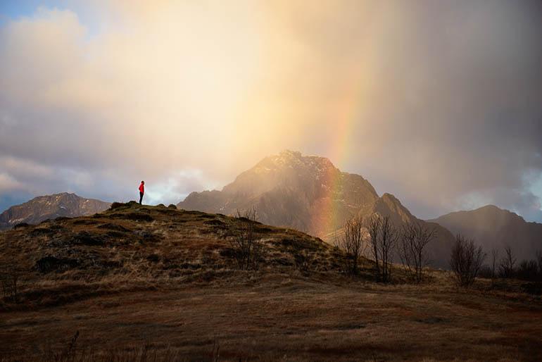 lofoten - regenbogen